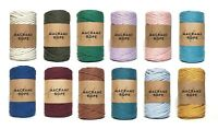 Recycled Macrame Rope Chunky Yarn Single Twist 100% Cotton Makramee Garn 5mm