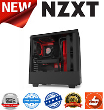 NZXT H510 Black/Red Mid Tower Chassis w/Tempered Glass Window 2x 120mm Fans
