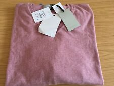 WILLIAMS & BROWN cotton/silk pink jumper v-neck size 3XL ref shp 1