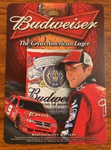2008 Stock(Nascar)Car Pocket Schedule-Budweiser/Dale Earnhardt Jr. Free Shipping