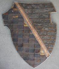Leather Scale Metal Warner Bros Movie Prop Shield LARP SCA Medieval Halloween