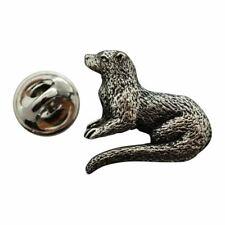 River Otter Pin ~ Antiqued Pewter ~ Lapel Pin