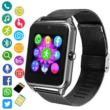 Unlocked Bluetooth Smart Watch Phone Camera Fitness Tracker for Samsung iphone X