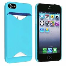 Credit Card ID Case for iPhone 5 / 5S - Sky Blue