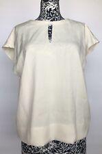 3.1 Phillip Lim Women Top Size 4 NWT White Blouse Acetate Silk Open Back
