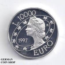 San Marino 10000 Lire 1997 Euro PP Silber - Silver proof