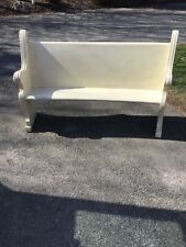 Antique Solid Oak 5 Foot Wide x 38 Inch High, Church Pew In White