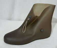 Womens SZ 11 Tan Waterproof Rubber High Top Shoe Covers Water And Slip Resistant