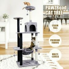 175cm Cat Tree Scratching Post Scratcher Tower Climbing Pole Toy Furniture Wood