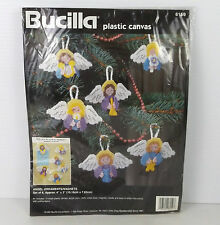 Bucilla Angel Christmas Ornaments Magnets Plastics Canvas Craft 6159 NIP 1995
