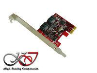 Profi Kategorie - Karte PCIe 2.0 - 2 x SATA 3.0 6GBps RAID 0 1 low+high profile