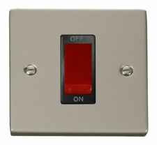 Black Nickel 1-Gang Cookers Switches Home Electrical Fittings