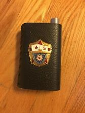 Vintage USSR  Flask 8 Oz Leather Covered Navy Army 1941-1945