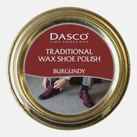 DASCO BURGUNDY OXBLOOD 50 ML HIGH GLOSS TRADITIONAL WAXED SHOE LEATHER POLISH