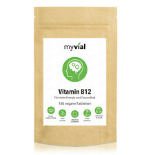 Vitamin B12 + Folsäure | 180 Tabletten vegan | 6 Monate Vorrat
