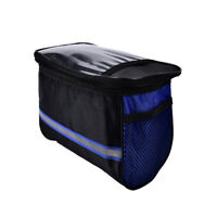 Bicycle Cycling Outdoor Front Basket Pannier Frame Tube Handlebar Bag Pouch GF