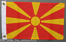 Republic of Macedonia Flag Small Size New Polyester Macedonian Republika Makedon