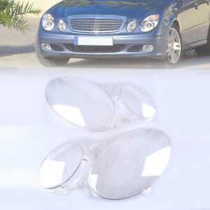 Front Headlight Clear Lens Cover For Mercedes Benz E-Class W211 2003-2009