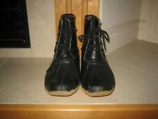 ~Refresh~ Women's Black Hunter-06 Waterproof Rubber Rain Duck Ankle Boot~ SZ 9
