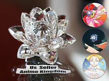 "USA Seller Cosplay Sailor Moon Silver Crystal Lotus Shaped 3"" Crystal Flower 8cm"