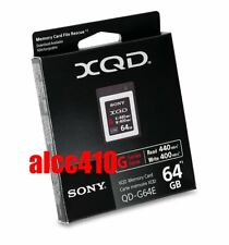 Sony 64GB XQD G-Series Memory Card QD-G64E Read : 440MB/s Write 400MB/s 4K AU