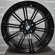 "GENUINE BMW M3 E90/2/3 19"" INCH 220M SPORT 10 SPOKE SATIN BLACK ALLOY WHEELS X4"