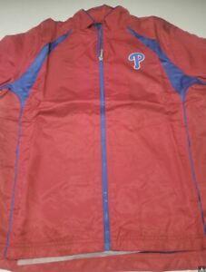 Philadelphia Phillies REEBOK JACKET ZIPPER LARGE  BRAND NEW! ****ON SALE*****