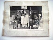 Vintage B&W Photograph of Family Standing In Old Country Store w/ Coke Cooler*