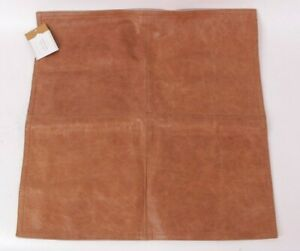 """Pottery Barn Pieced Leather 20"""" pillow cover, whiskey brown"""