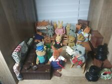 HUGE LOT Bandai Calico Critters Maple Town vtg 80s furniture playset accessories