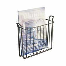 InterDesign Classico Wall Mount Newspaper and Magazine Rack for Bathroom - Bronz