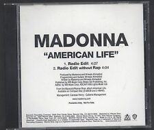 Rare Madonna American Life USA CD Single Promo Exclusive Cover W/OUT RAP VERSION