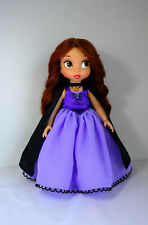 Vanessa/ Ursula (sea witch) inspired purple dress fits Disney animator doll 16""