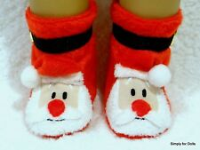 """SANTA CLAUS Christmas DOLL SLIPPERS BOOTIES Shoes fits 18"""" AMERICAN GIRL DOLL"""