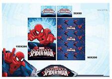 Completo letto Singolo Spiderman Marvel Uomo Ragno Lenzuolo sopra sotto Federa
