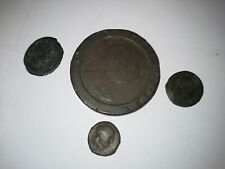 More details for coin george lll 1797 cartwheel twopenny plus 3 old coins.