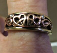 'Clogau, Cariad' Diamond, Rose and Yellow 9ct Gold Ring. Size R. xahod.