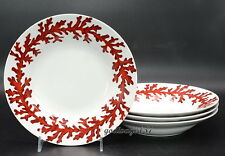 Z Gallerie Red Coral * 4 SOUP / CEREAL BOWLS * New With Tags!