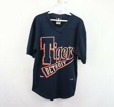 Vintage 90s MLB Baseball Mens Medium Spell Out Detroit Tigers V Neck Mesh Jersey