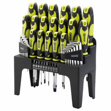 DRAPER 78619 44 Piece Screwdriver, Hex Key and Bit Set (Green) With Stand