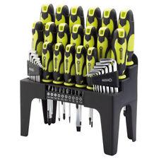 DRAPER 78619 44 Pieza Destornillador, clave hexadecimal y conjunto de bits (verde) con soporte