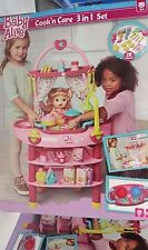 Baby Alive Cook 'N Care 3 IN 1 PLAY SET NURSERY KITCHEN  FIT ANY DOLL UP TO 18""