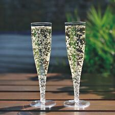 10 x Clear Prosecco Flutes 175ml Champagne Glasses Disposable Strong Plastic
