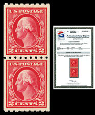 Scott 411 1912 2c Washington Coil Issue Mint Pair Graded XF 90 LH with PSE CERT!