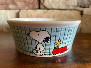 "Peanuts Classic Snoopy & Woodstock ""All Gone""  Ceramic 5"" Pet Food Bowl"