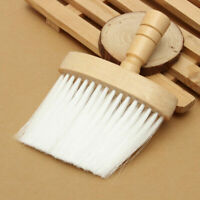 Pro Neck Duster Hairdressing Brush Hair Cutting Salon Barber Wide Wooden Handle