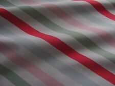 Cath Kidston bon bon stripe MULTI 25cm square lightweight cotton fabric new