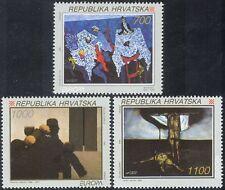 Croatia 1993 Europa/Art/Paintings/Artists/Modern/Contemporary 3v set (n42943)