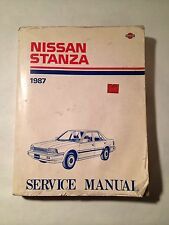 1987 Nissan Stanza Service Manual Shop Repair Book Made In Japan Vintage 80s 87