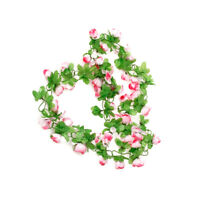 Artificial Rose Garland Silk Flower Vine for valentines Home Garden Decoration
